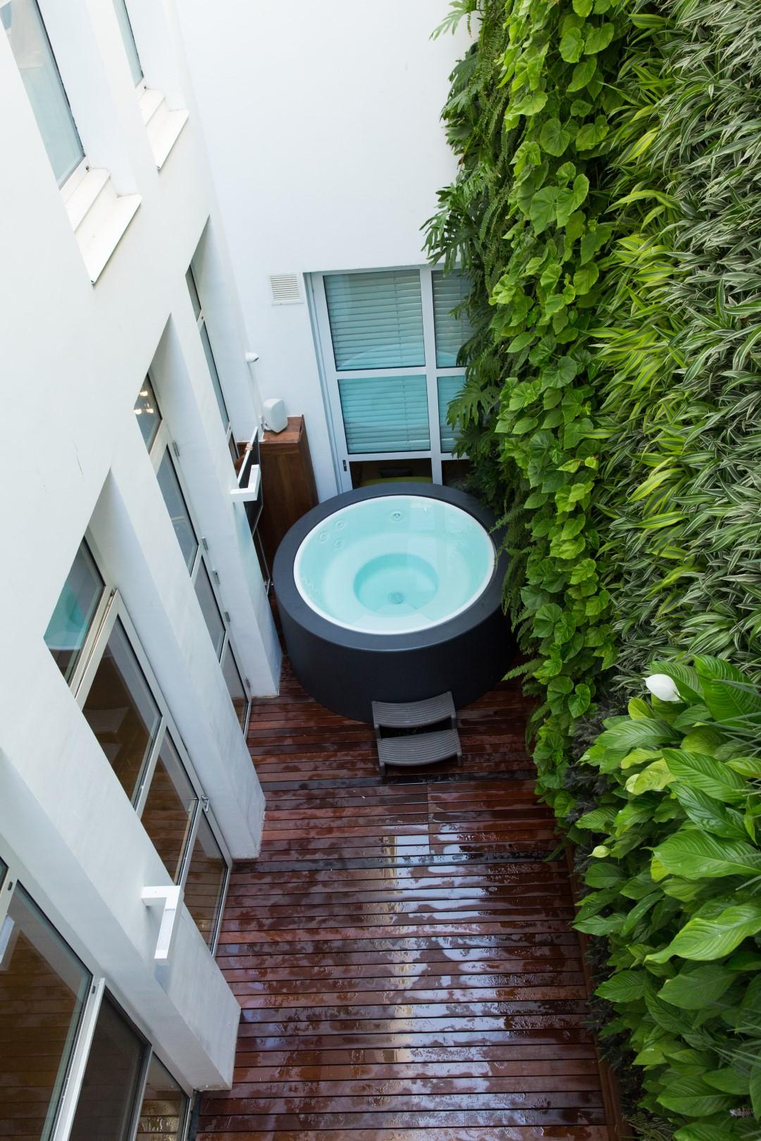 קיר ירוק למרפסת